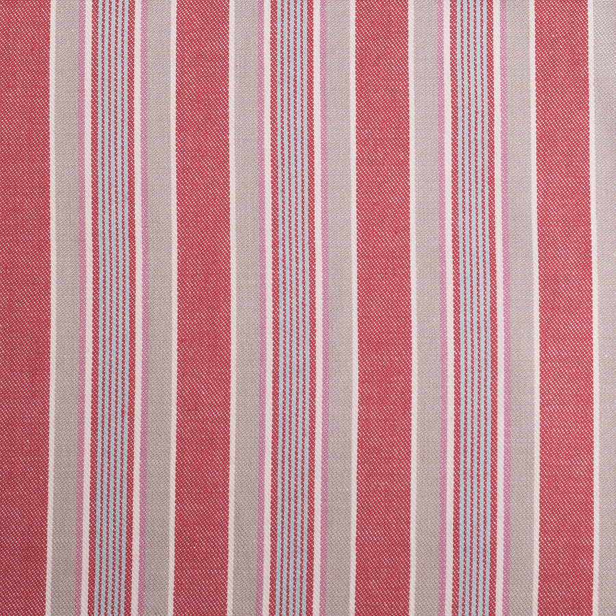 Small Rose / Grey Stripe Pyjama Fabric (FD-HSC-4603)