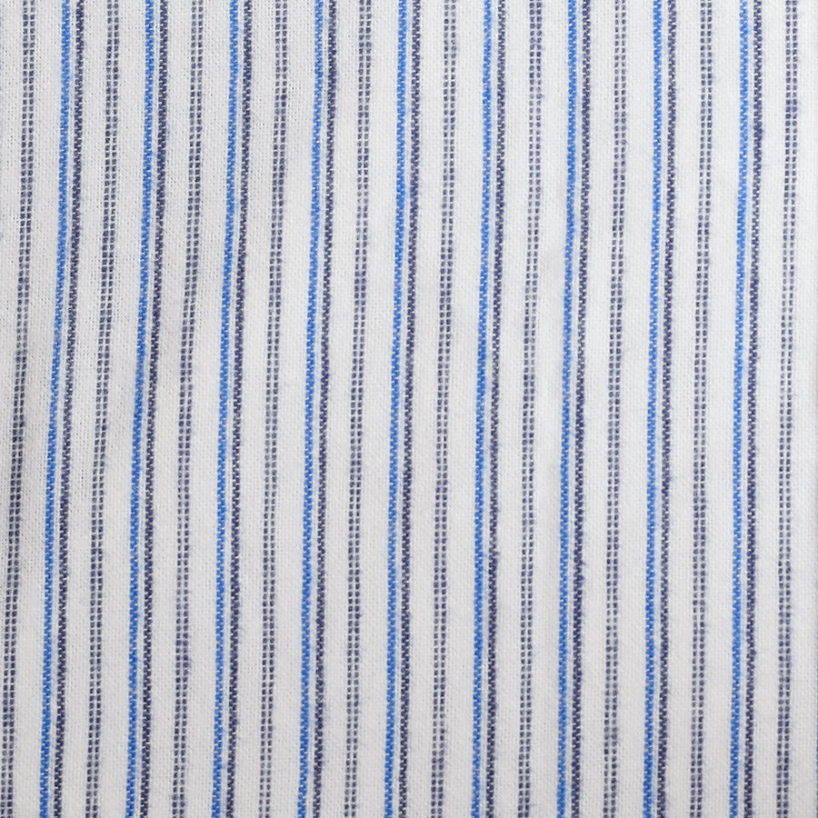 Heavy Blue Brushed Cotton Fabric (FD037)