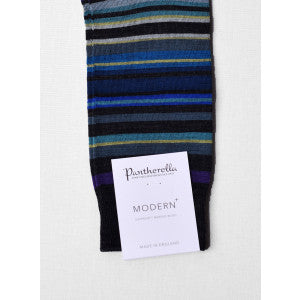 Dark Blue Multi Stripe