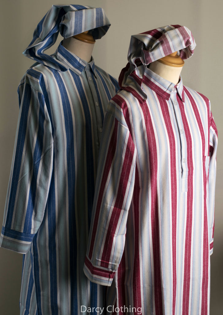 Traditional Striped Flannelette Nightshirts  (NW430)