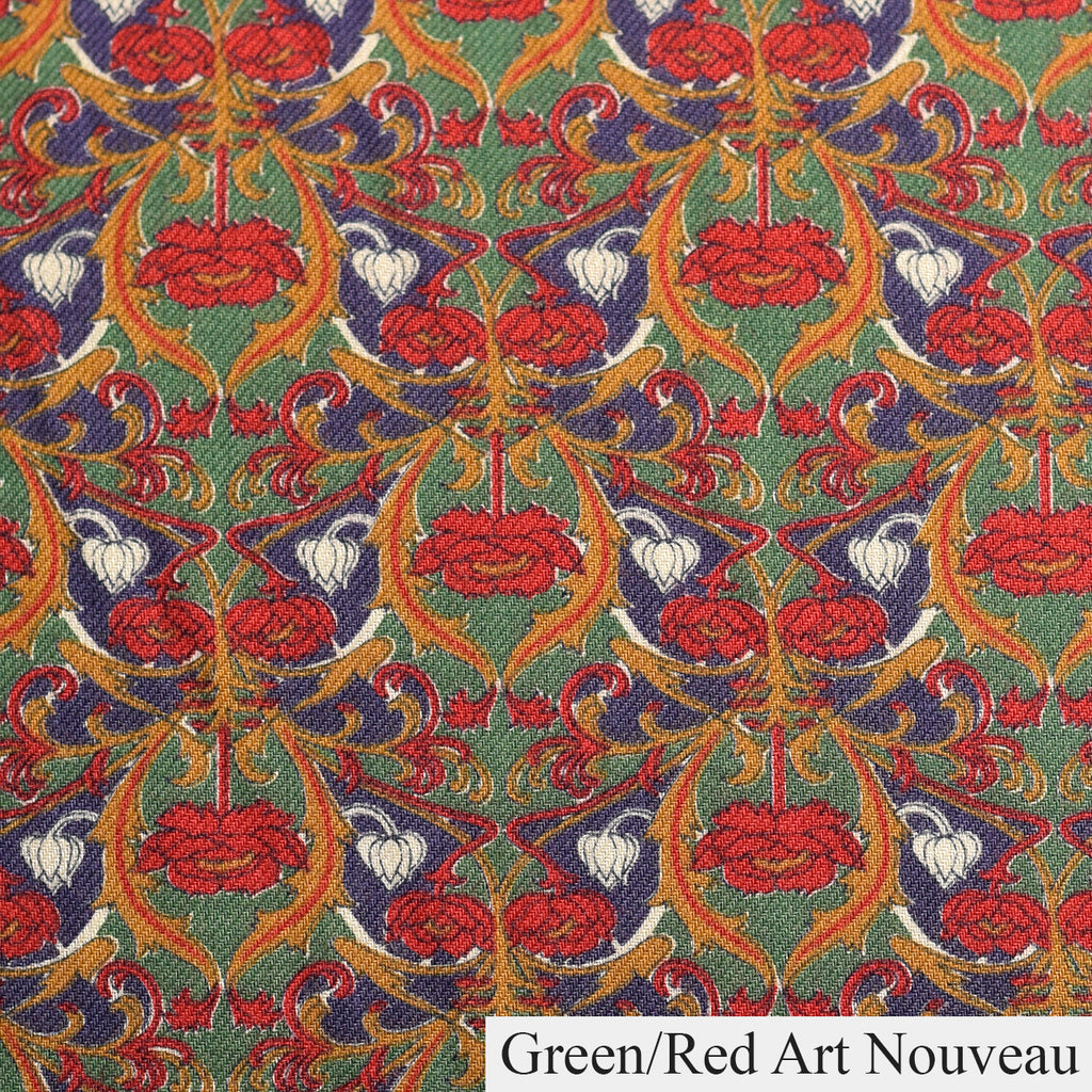 NW520 - Dressing Gowns - Green/Red Art Nouveau - Available to Order