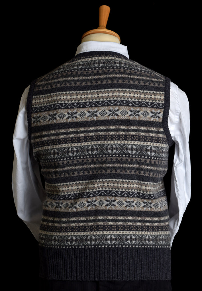 Lambswool Fair Isle Slipover - Flint
