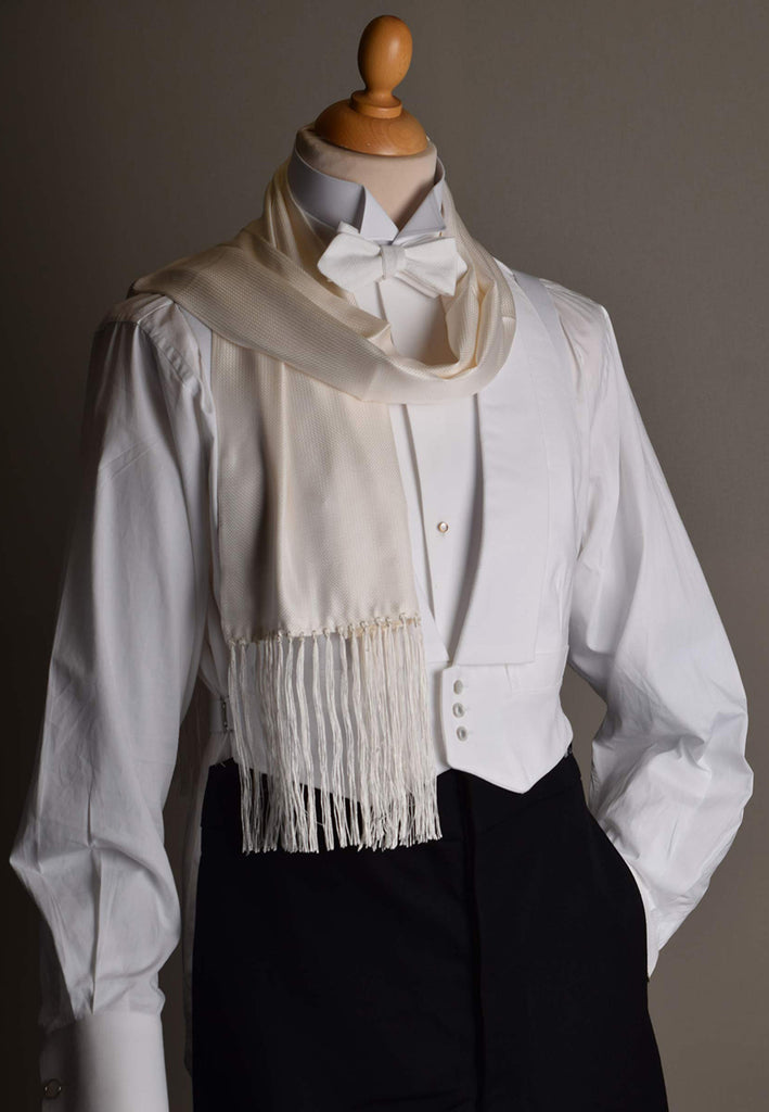 Fringed Silk Evening Scarf (CR563)