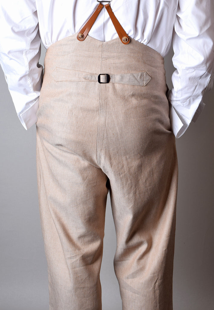 Cotton/Linen Blend Biscuit Coloured Trousers (TR450)