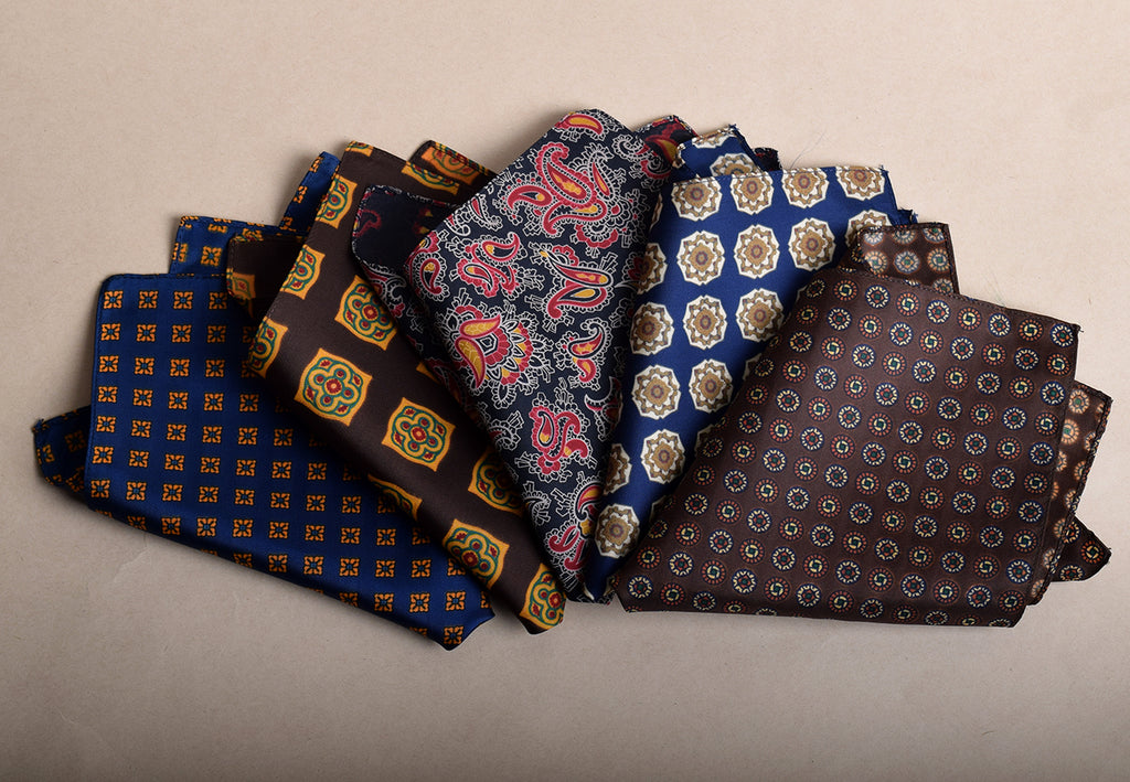 Silk Patterned Handkerchiefs HA96S