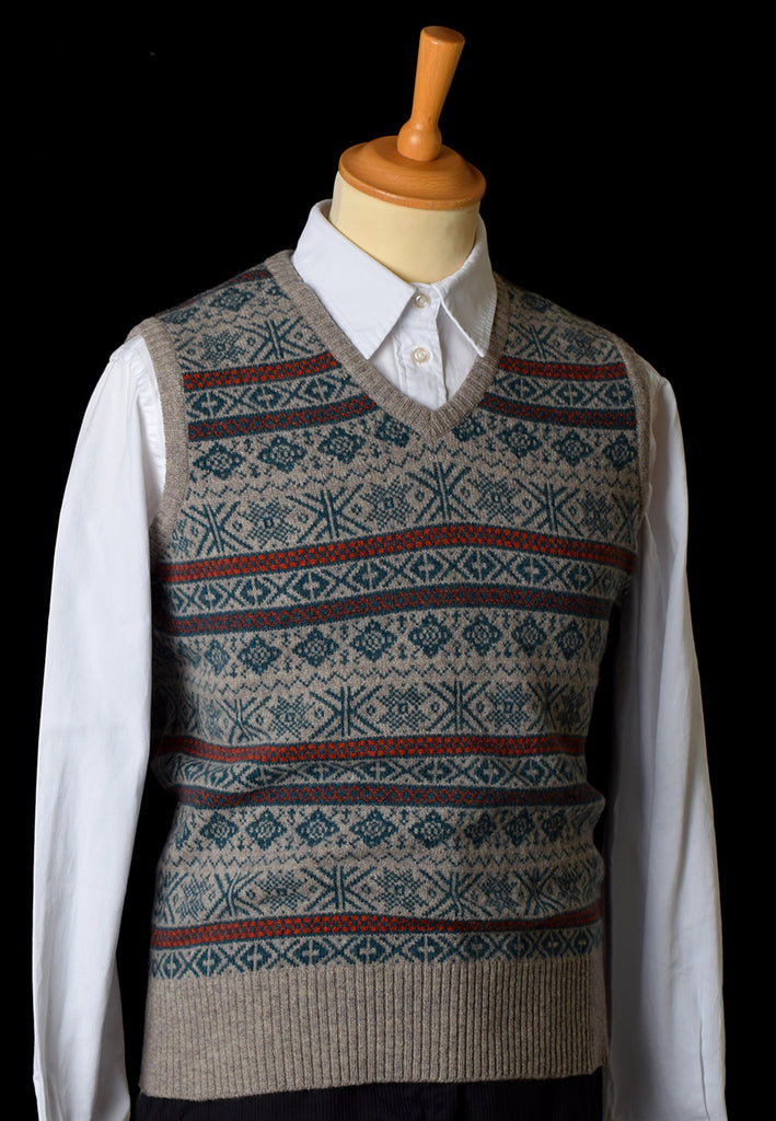 Lambswool Fair Isle Slipover - Hunter
