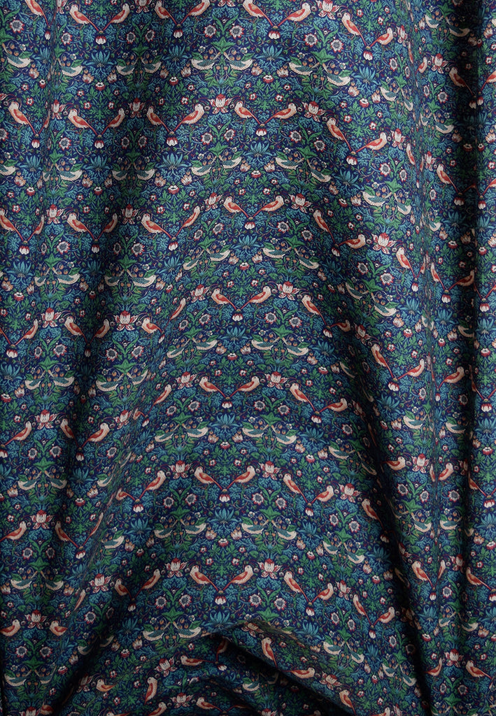 Liberty Strawberry Thief Jubilee Blue Fabric (FD-LIB-054)