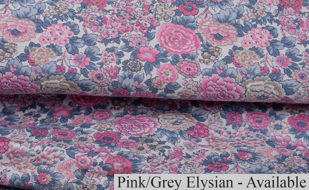 NW520 - Dressing Gowns - Pink/Grey Elysian - Available to Order
