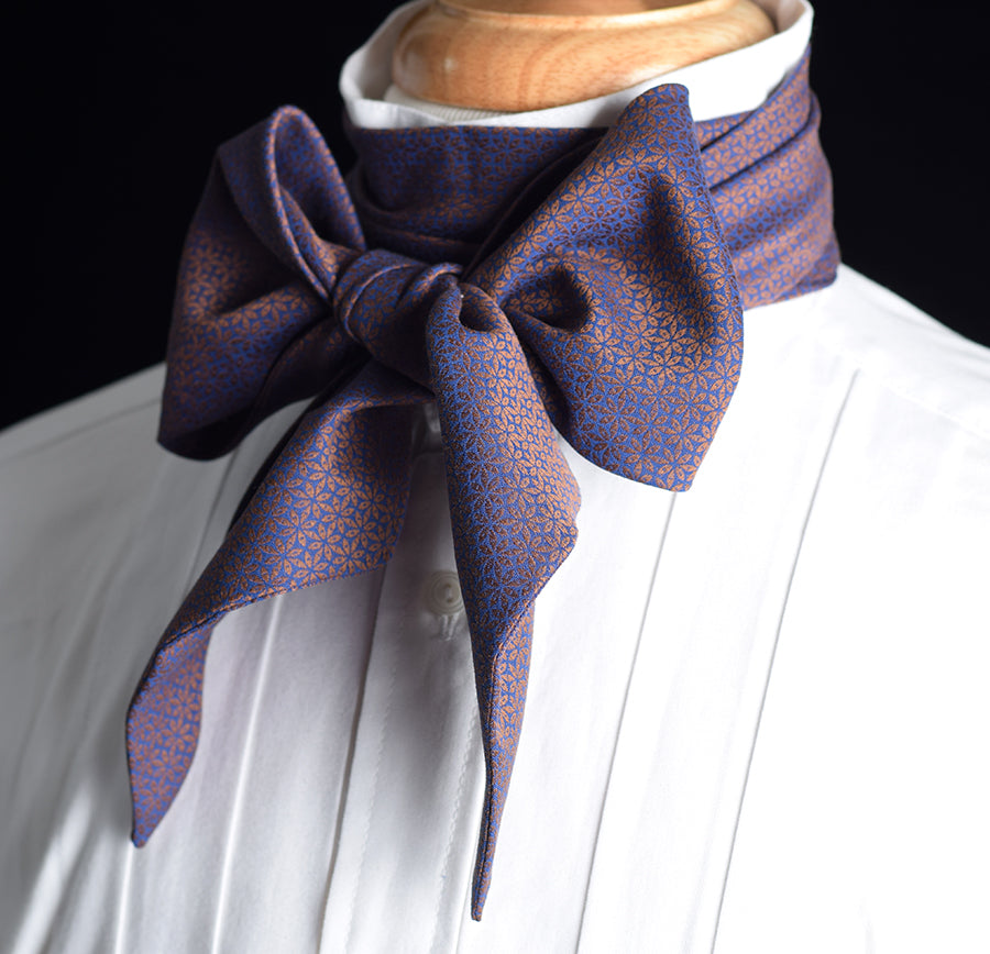 Textured Cotton Victorian Bow Tie (CR568)