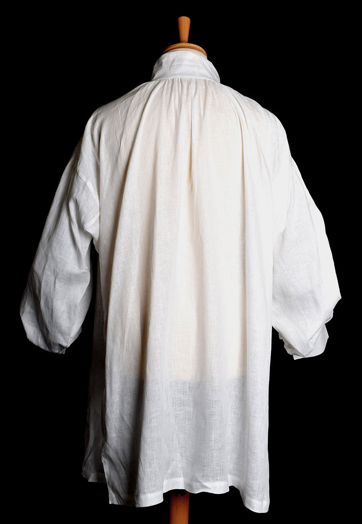 Square Cut Ivory Linen C18th Period Shirt (SH120)