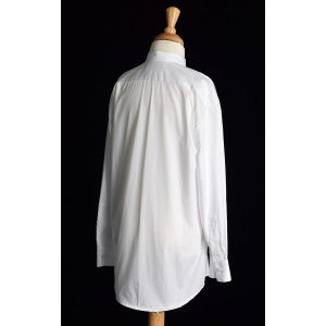 Boy's Collarless White Poplin Tunic Shirt (SH201) - Back View