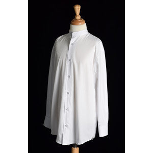 Boy's Collarless White Poplin Tunic Shirt (SH201)