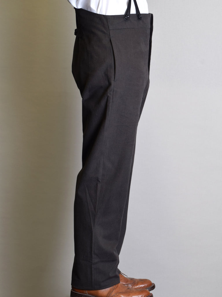 Charcoal Check Cotton Fishtail Back Trousers (TR310)