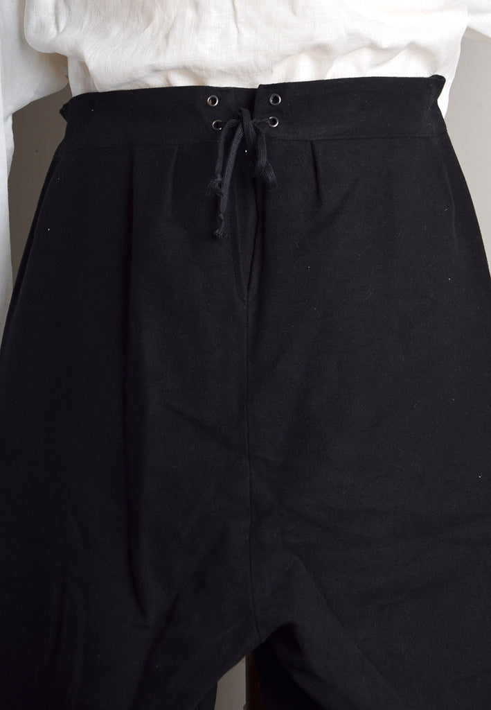 C18th Formal Knee Breeches (TR210) - Back of Black