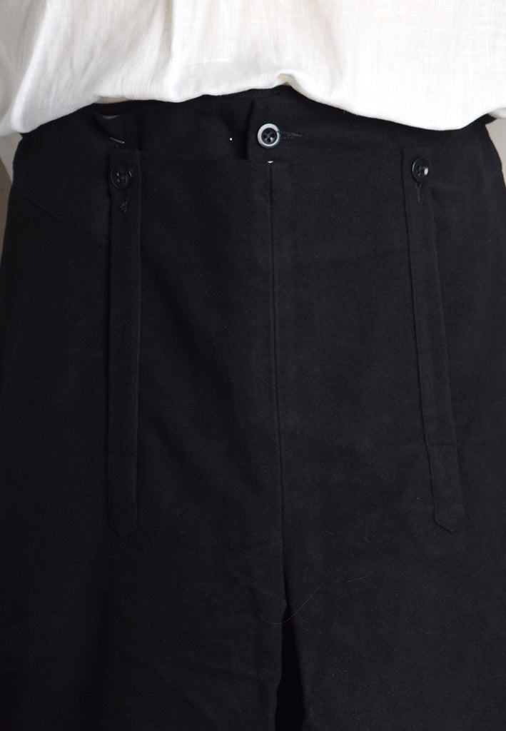 C18th Formal Knee Breeches (TR210) - Black Button Detail