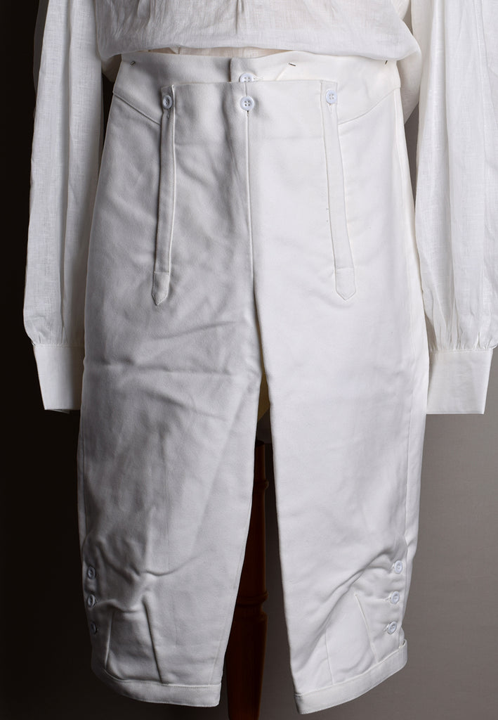 C18th Formal Knee Breeches (TR210) - White