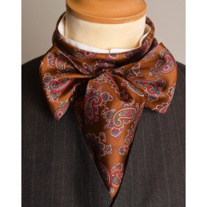 Printed Victorian Silk Bow Tie (CR562)