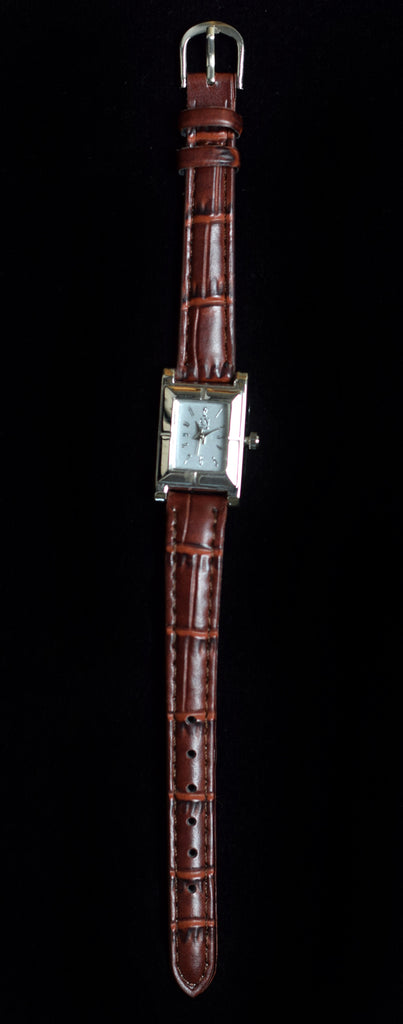 Ladies Brown Strap with Square Face