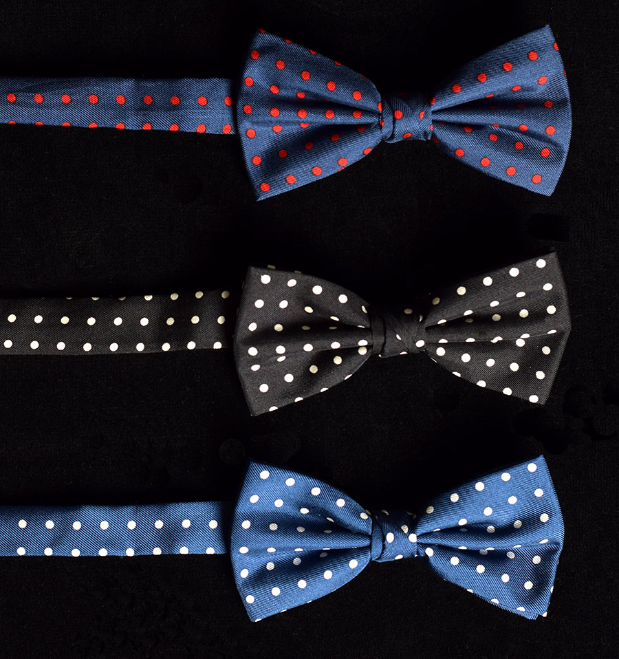 Polka Dot Silk Bow Tie - Ready Tied (CR5761)