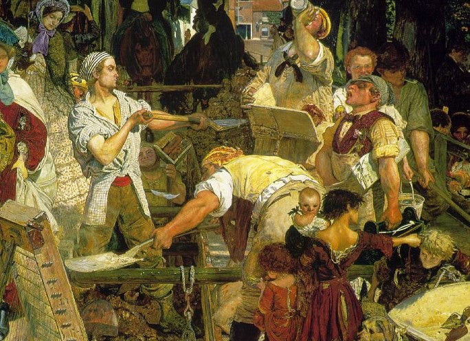 Square Cut Shirts in Ford Maddox Brown's 1863 Painting