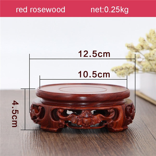 Red Rosewood Round Exhibition Table