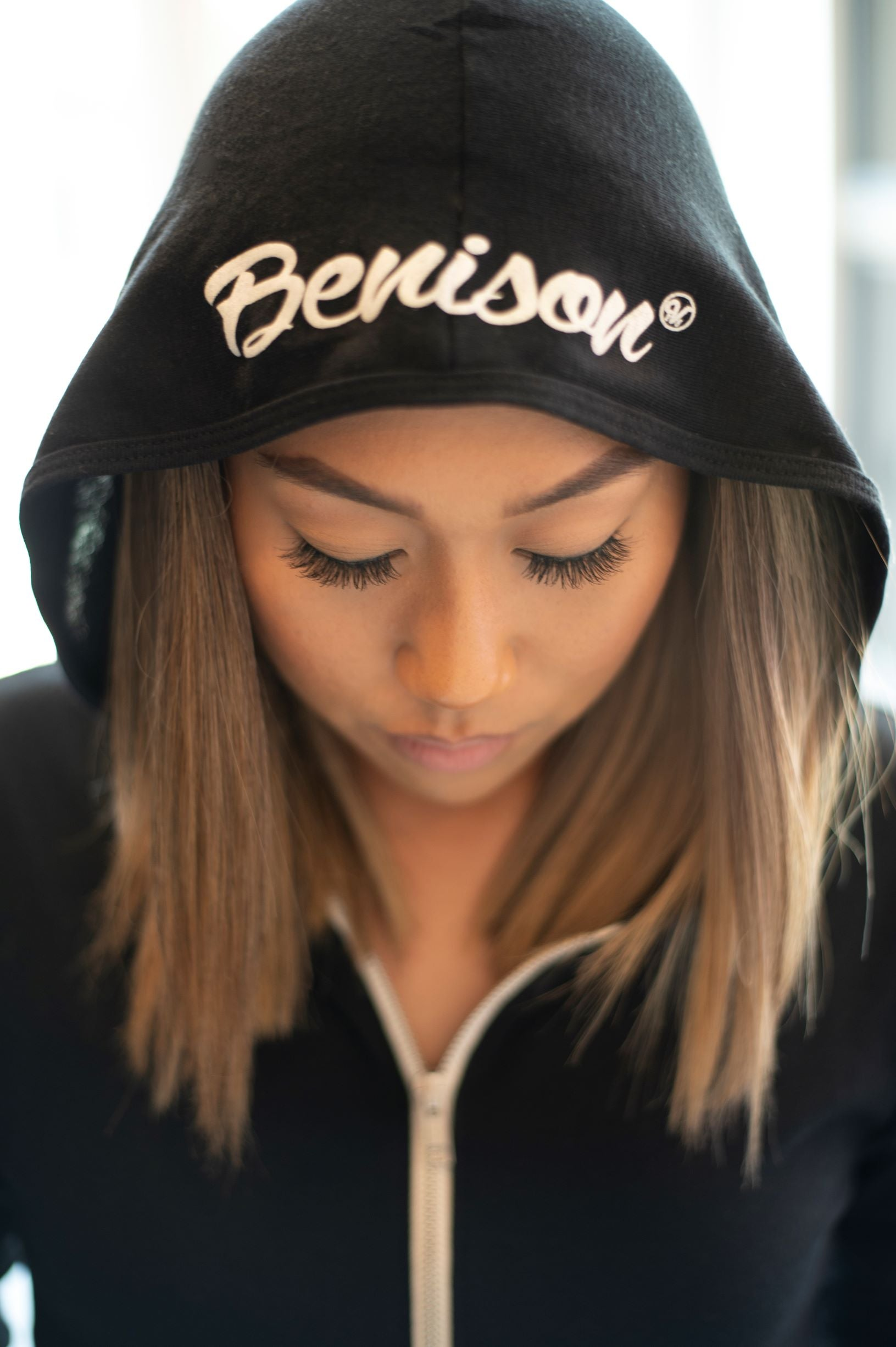 'Benison' Triblend Full Zip Light Hoodie