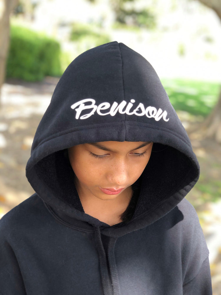 Load image into Gallery viewer, 'Benison' Cropped Fleece Hoodie
