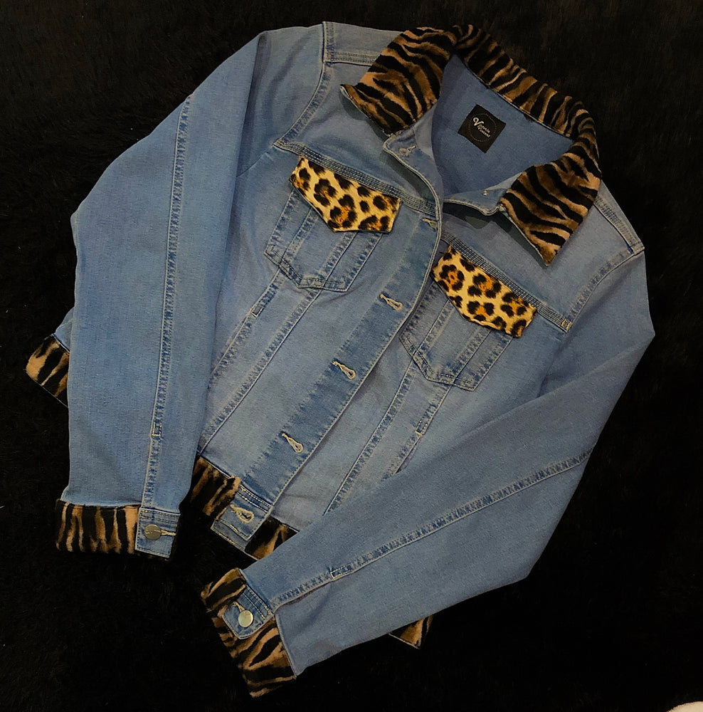 Bespoke Animal Print Custom Denim Jacket
