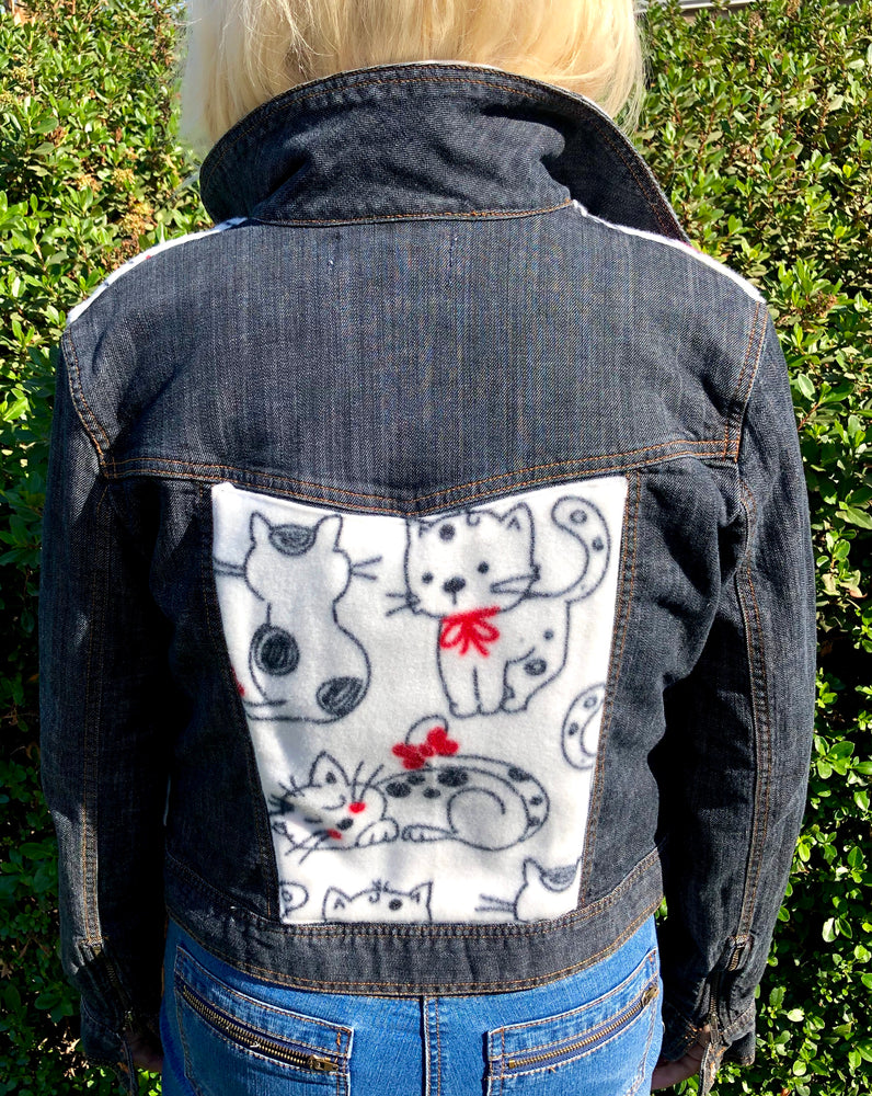 Bespoke Blanket Fleece Custom Denim Jacket