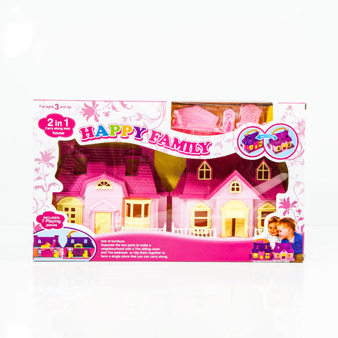 Set 7 Piezas Casita Rosada Happy Fam