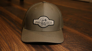 Olive Snapback Curved Trucker