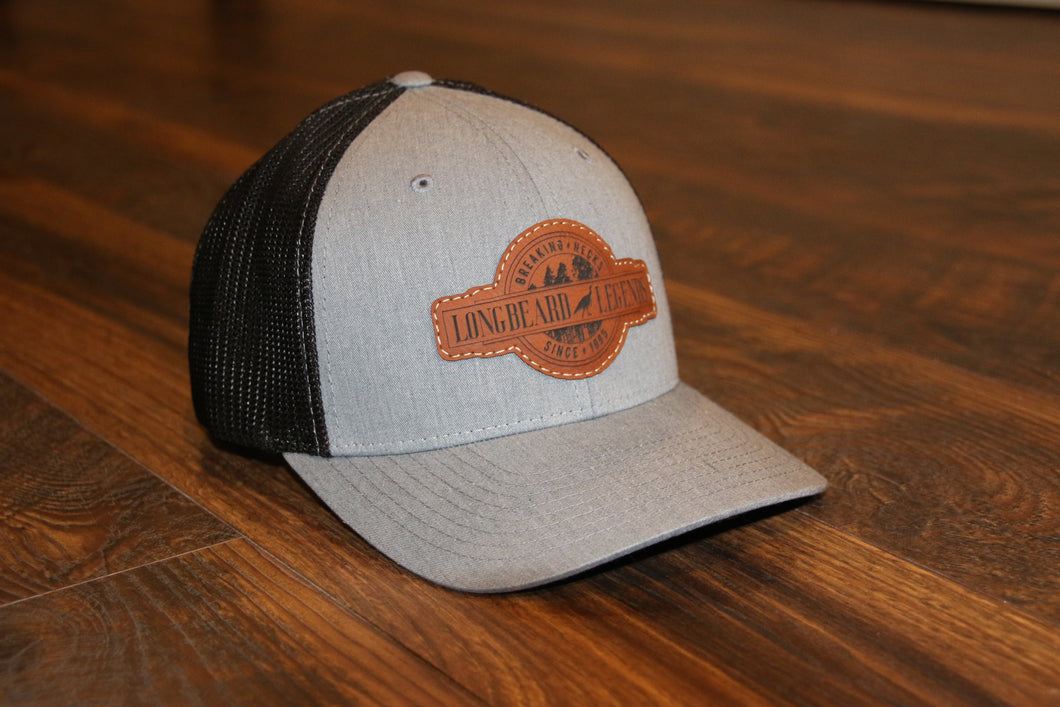 Grey Fitted Curved Trucker