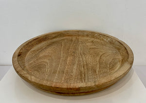ROUND TRAY D30CM WOOD NATURAL Small