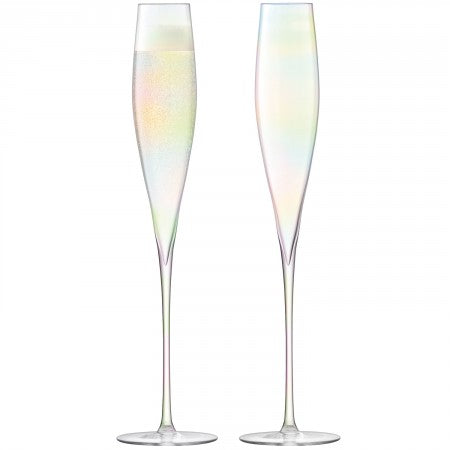 Celebrate Champagne Flute Mother of Pearl S/2