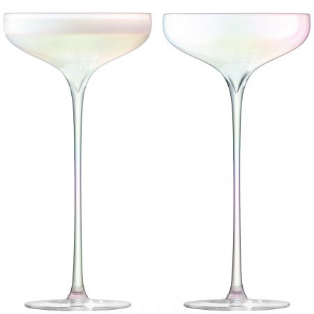 Celebrate Champagne Saucer Mother of Pearl S/2