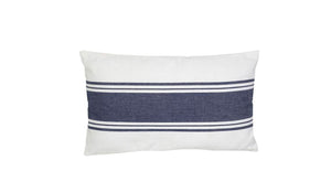 CUSHION BOUDOIR  STRIPE - Blue/White
