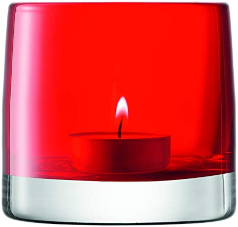 Light Colour Tealight Holder - Red