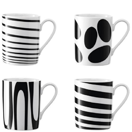 Jazz Mug 300ml Black Assorted S/4