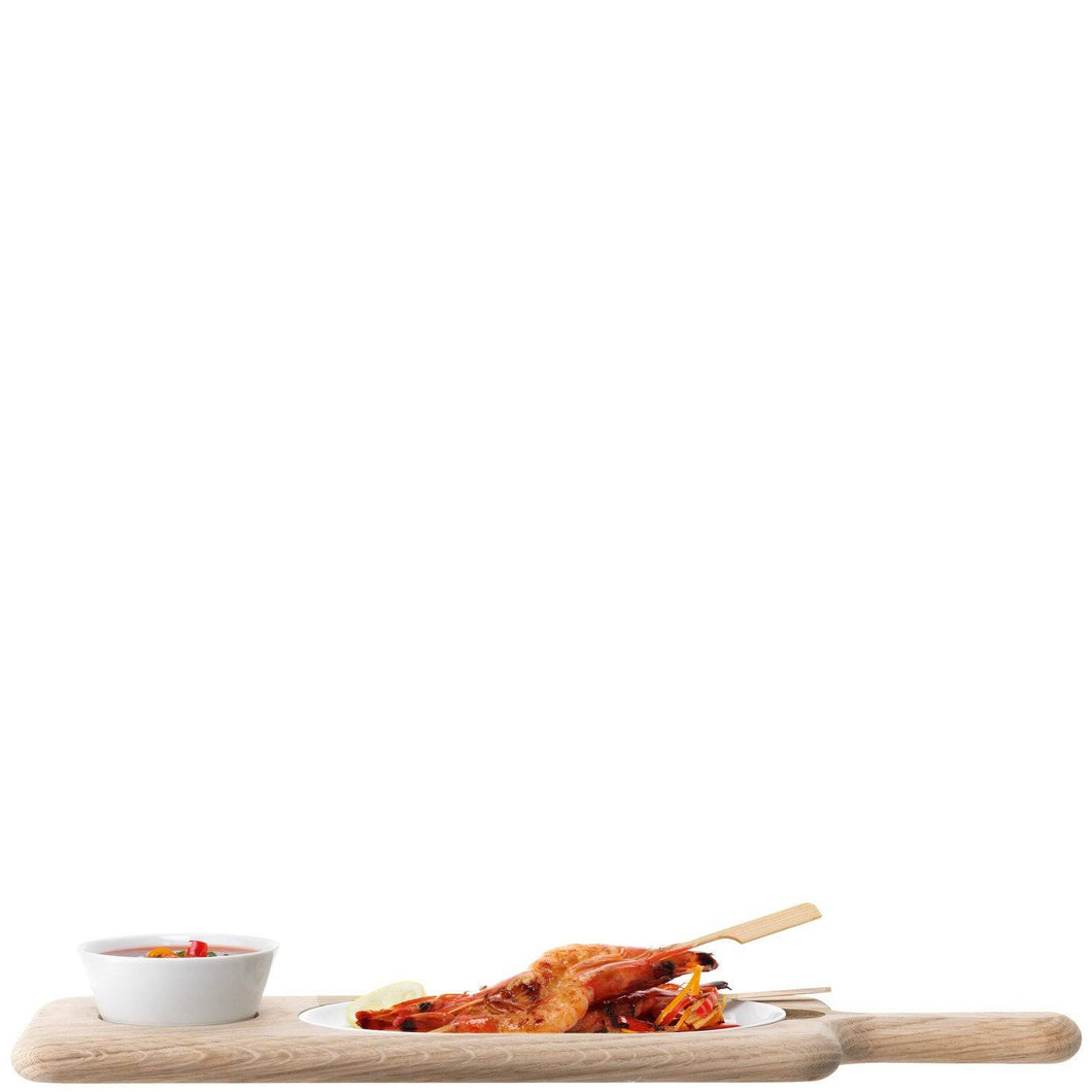 Paddle Serving Set & Oak L43.5cm