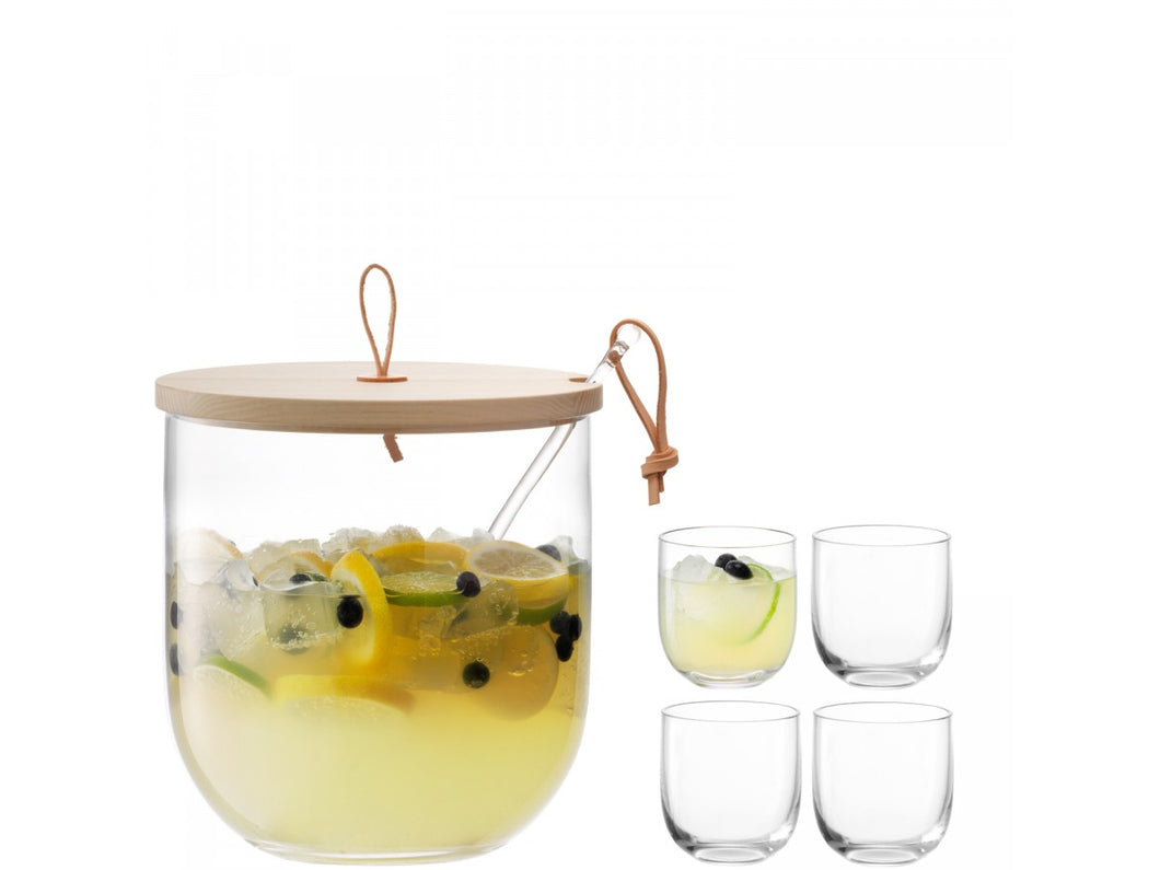 Ivalo Punch Bowl Set & Ash Lid Ø23cm Clear