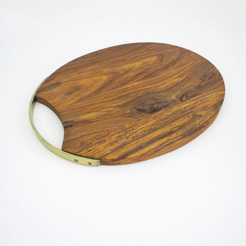 Oval Rosewood/Brass Serving Board Large