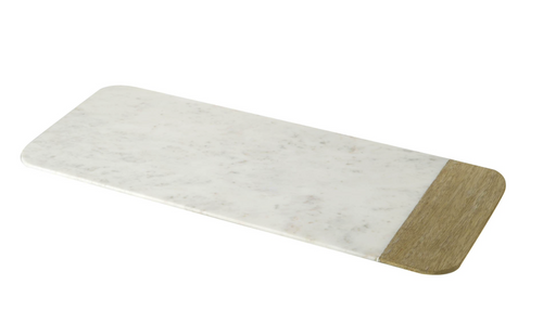 VANDA MARBLE/WOOD SERVING BOARD - LARGE