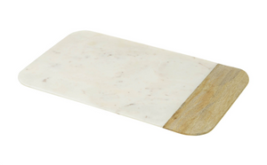 VANDA MARBLE/WOOD SERVING BOARD - SMALL