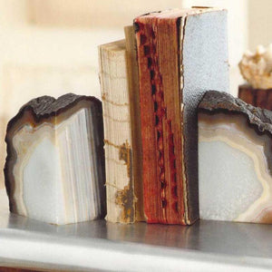 Agate Bookend Large S/2