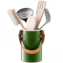 Load image into Gallery viewer, Utility Utensil Pot & Leather Handle