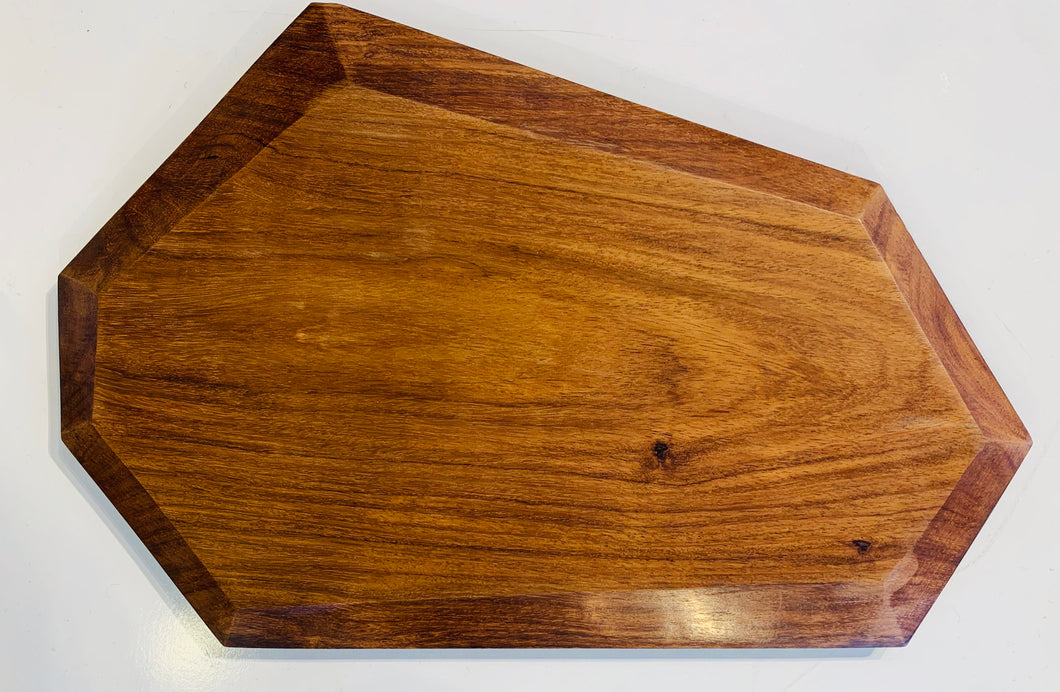 Faceted Rosewood Serving Board