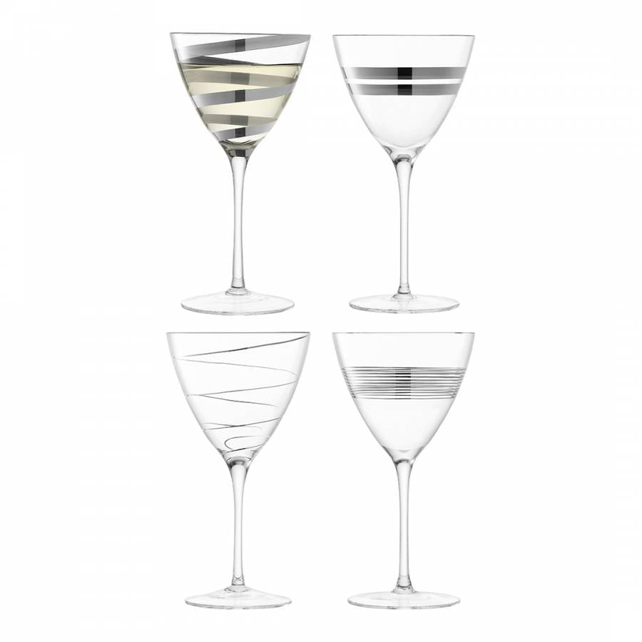 Gatsby Wine Glass 330ml Assorted Platinum S/4