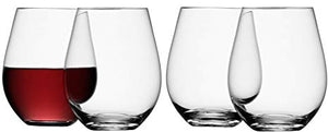 Wine Stemless Red Wine Glass 530ml Clear S/4