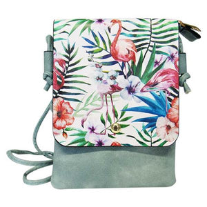 Shoulder bag print tropical