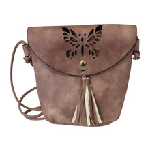 Load image into Gallery viewer, Shoulder butterfly bags Mustard/Dusky Rose/Light Blue/Red
